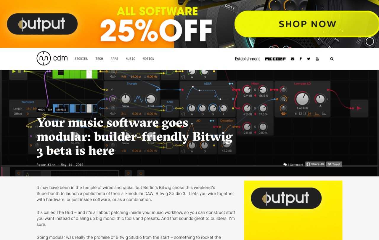 Your music software goes modular: builder-friendly Bitwig 3 beta is here - CDM Create Digital Music