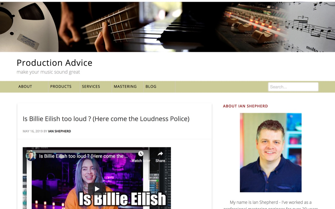 Is Billie Eilish too loud ? (Here come the Loudness Police) - Production Advice