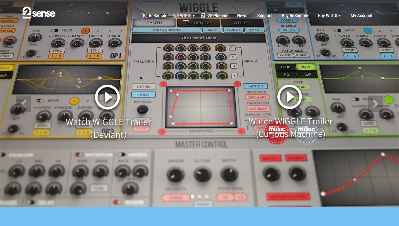 WIGGLE | 2nd Sense Audio - Resample Audio Editor & WIGGLE Dynamic Waveshaping Synthesizer plugin