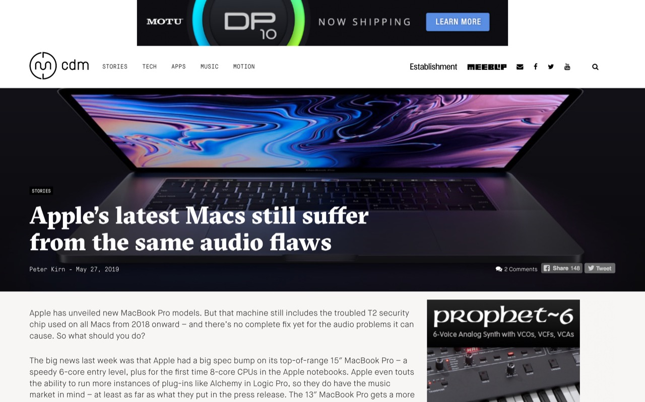 Apple's latest Macs still suffer from the same audio flaws - CDM Create Digital Music