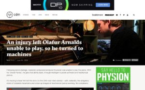 An injury left Olafur Arnalds unable to play, so he turned to machines - CDM Create Digital Music