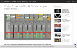 Craig's Production Tips #4: Try starting your mix in mono! - gearnews.com