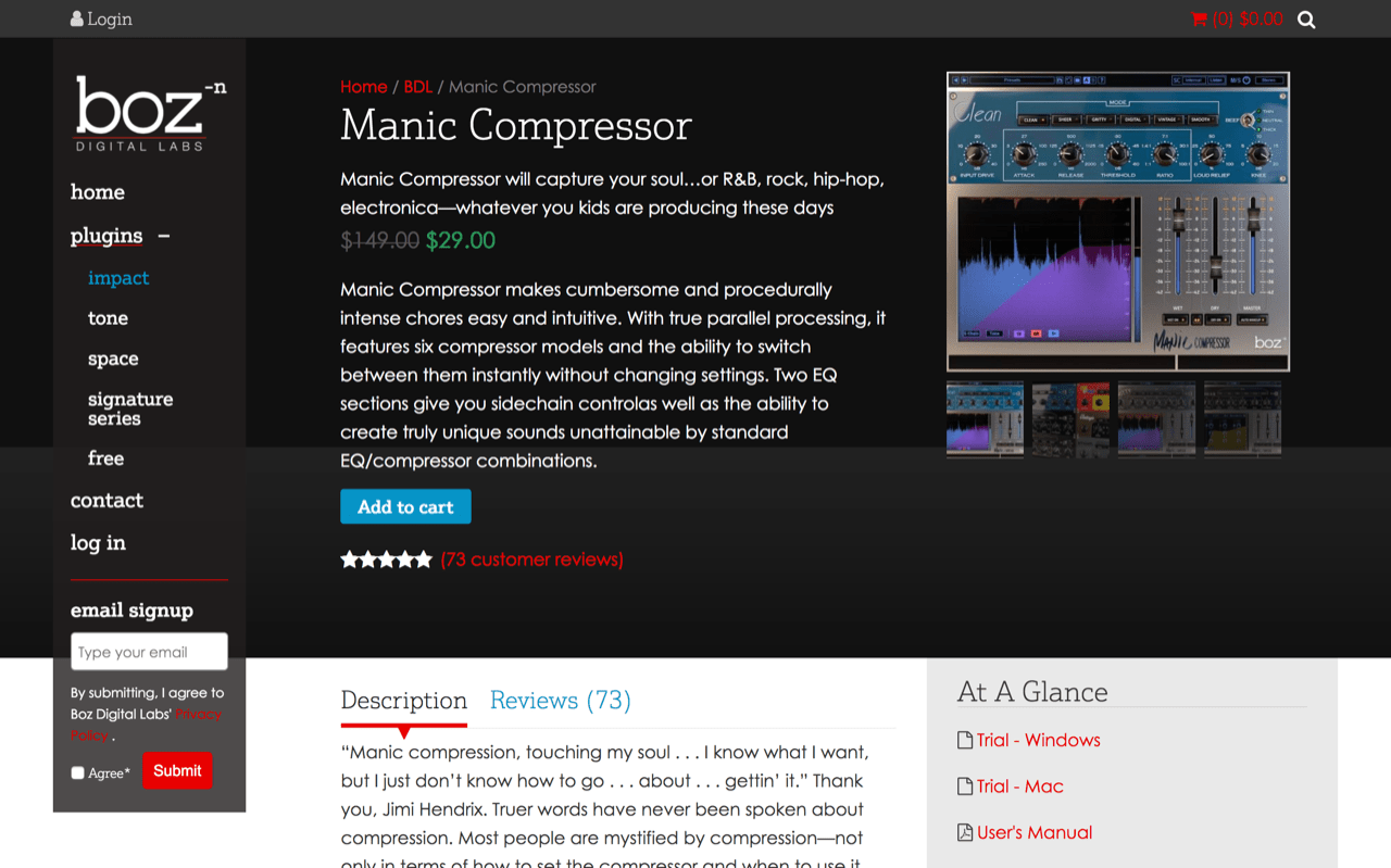 Manic Compressor | Boz Digital Labs
