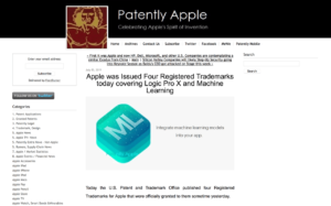 Apple was Issued Four Registered Trademarks today covering Logic Pro X and Machine Learning - Patently Apple