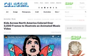 Kids Across North America Colored Over 3,000 Frames to Illustrate an Animated Music Video | Colossal