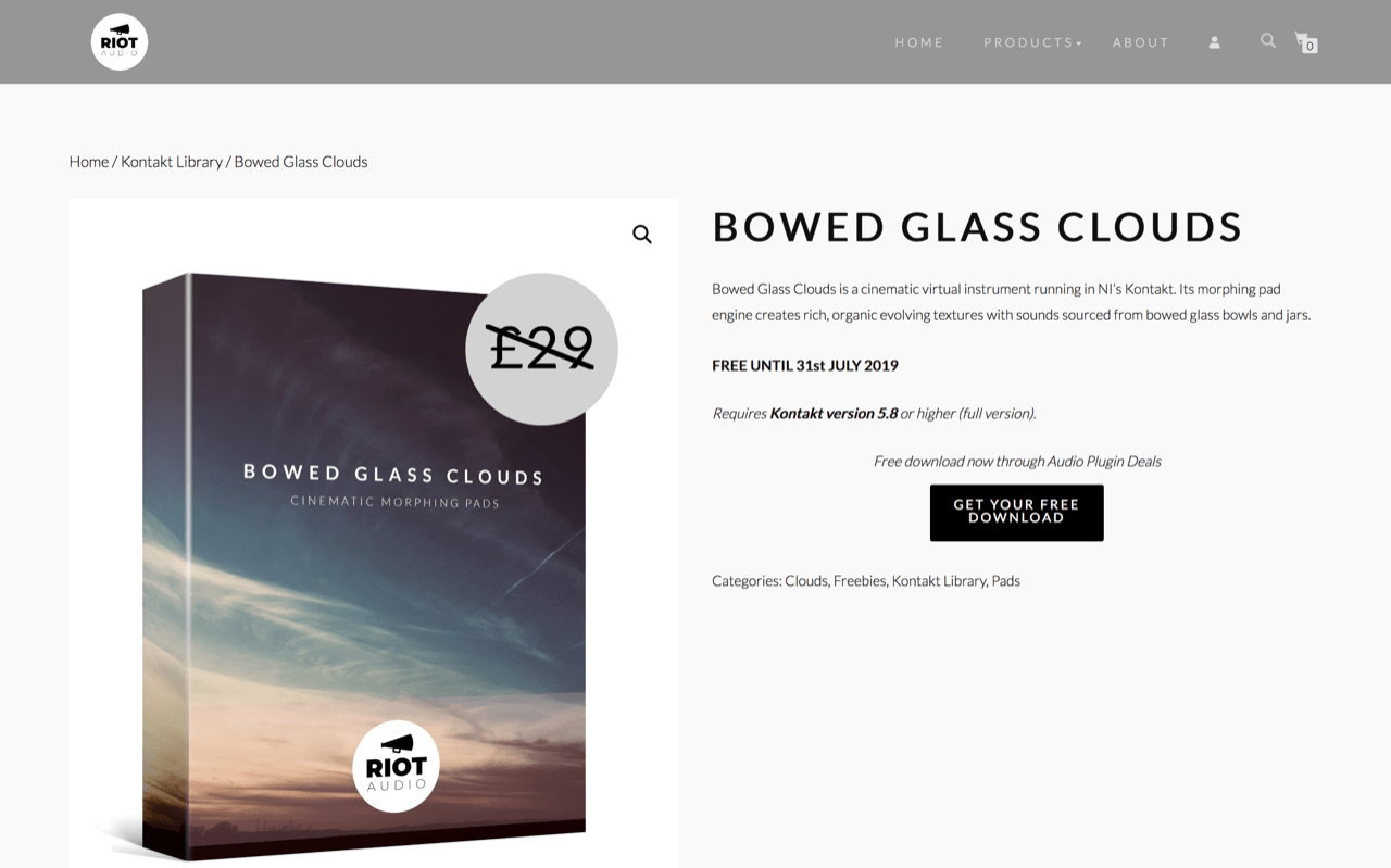 Bowed Glass Clouds | Riot Audio