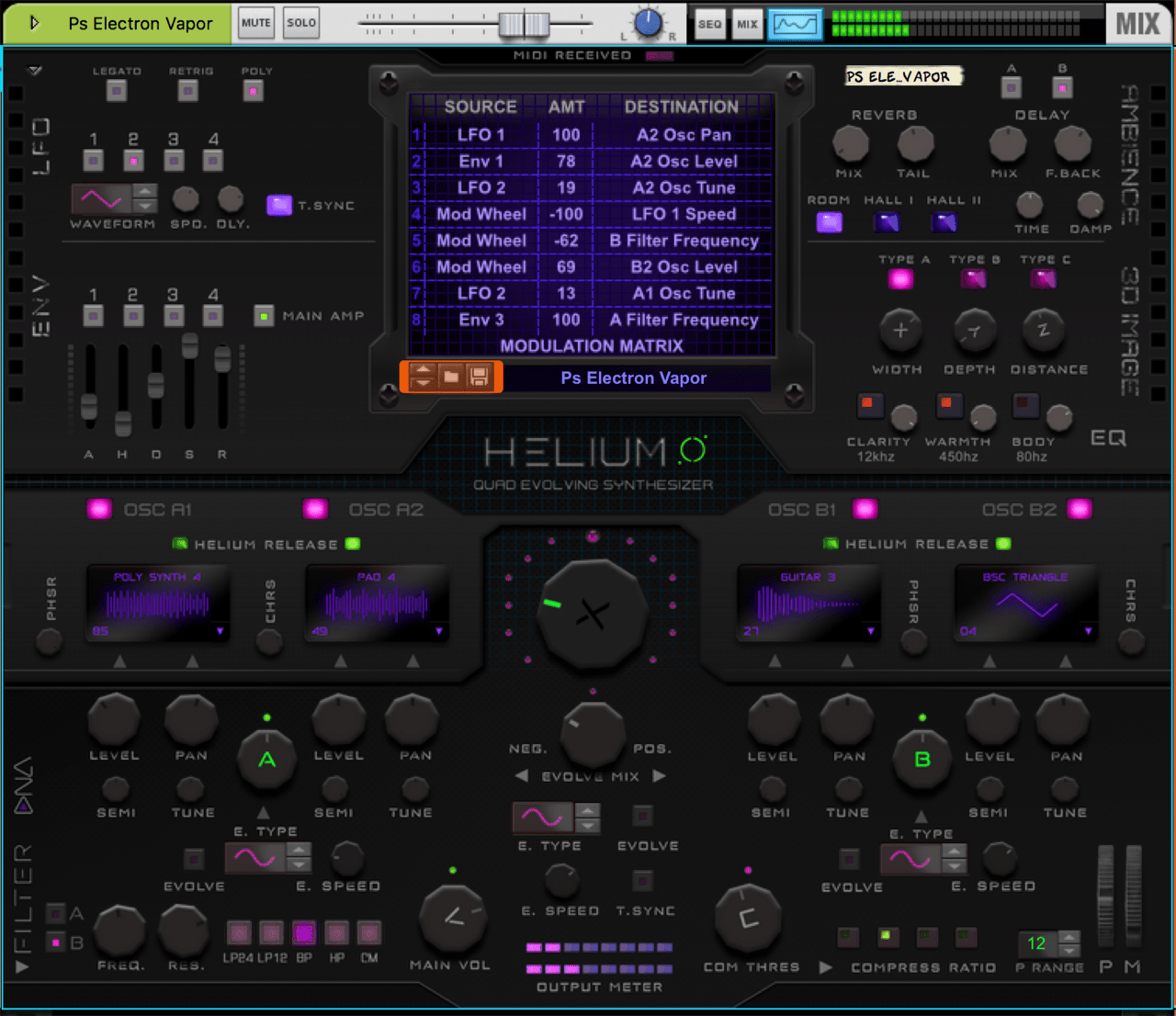 Helium | Quad Evolving Synth | Shop | Propellerhead