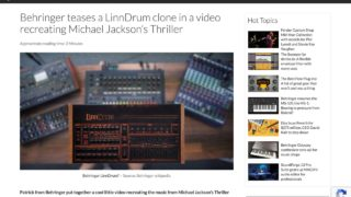 Behringer teases a LinnDrum clone in a video recreating Michael Jackson's Thriller - gearnews.com