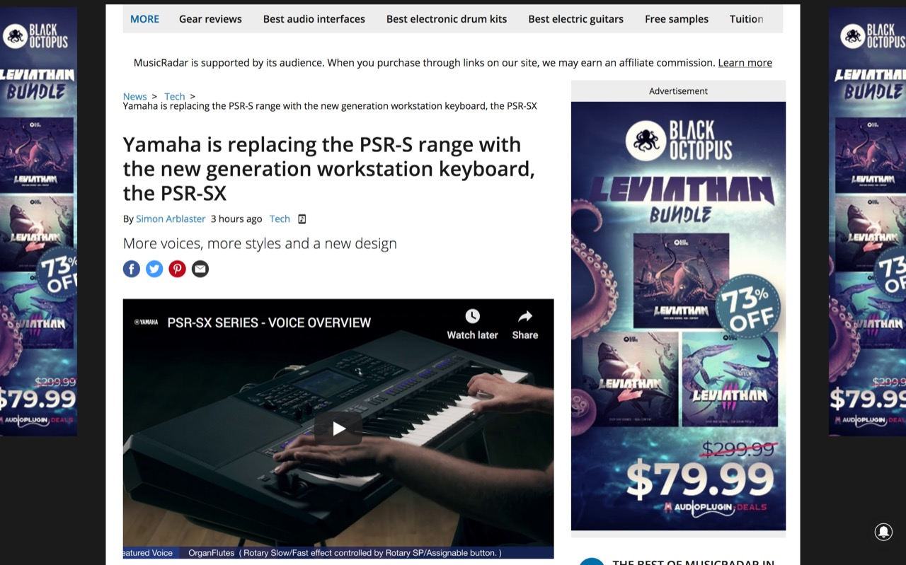Yamaha is replacing the PSR-S range with the new generation workstation keyboard, the PSR-SX | MusicRadar