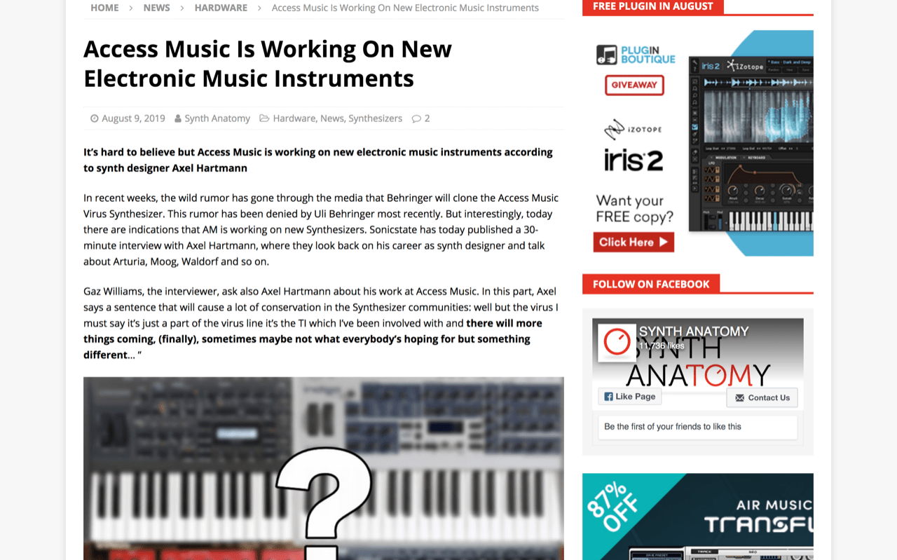 Access Music Is Working On New Electronic Music Instruments