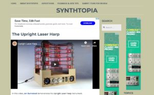 The Upright Laser Harp – Synthtopia
