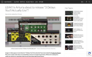 """LEAK! Is Arturia about to release """"3 Delays You'll Actually Use""""? - gearnews.com"""