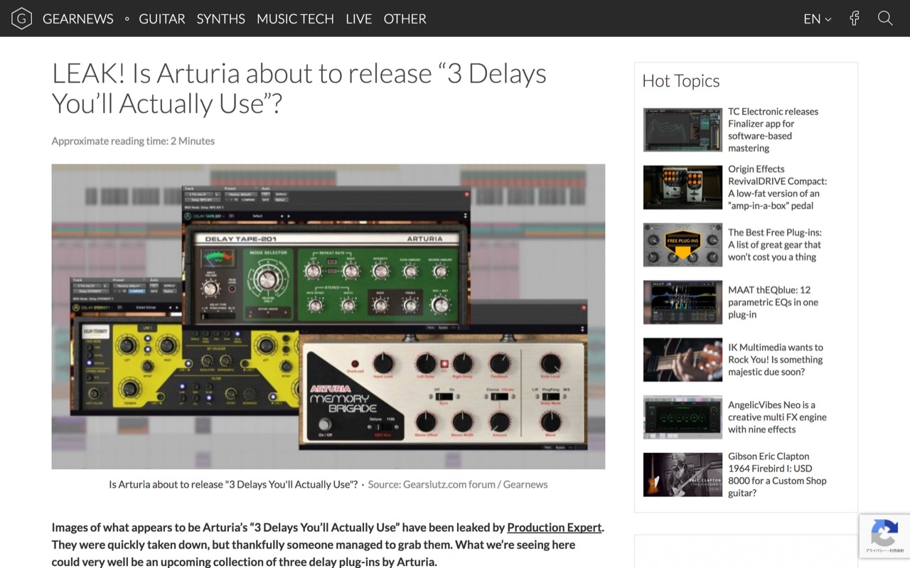 "LEAK! Is Arturia about to release ""3 Delays You'll Actually Use""? - gearnews.com"