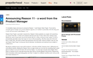 Announcing Reason 11 - a word from the Produ... | Propellerhead