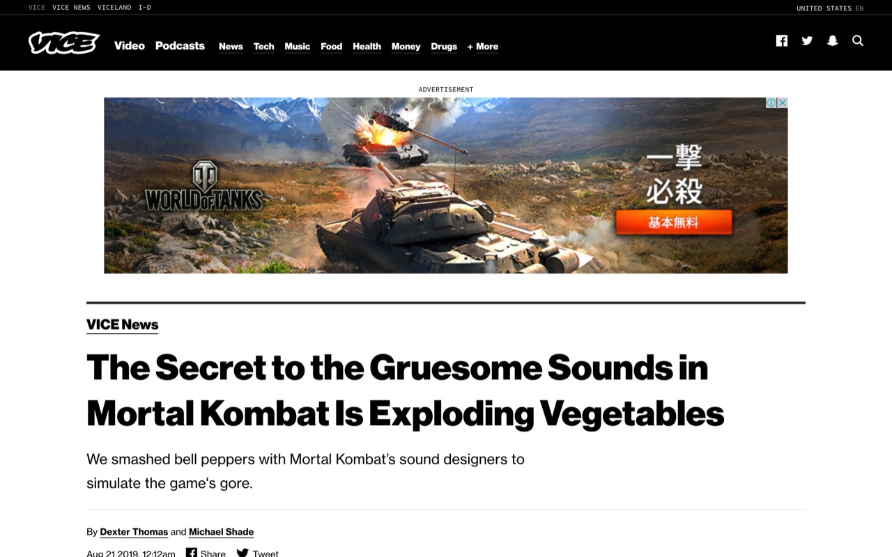 The Secret to the Gruesome Sounds in Mortal Kombat Is Exploding Vegetables - VICE