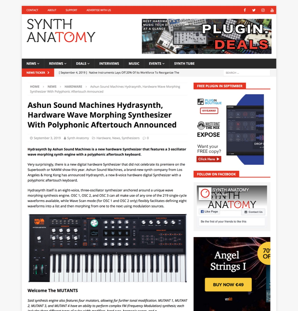 Hydrasynth, New Hardware Digital Synthesizer With Polyphonic Aftertouch