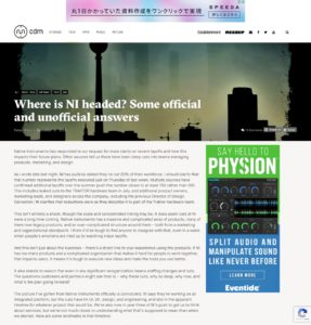 Where is NI headed? Some official and unofficial answers - CDM Create Digital Music