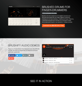 Brushify Pro. Brushed drum kit for Finger Drummers | Sampleson