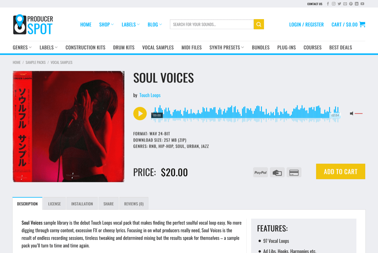 Soul Voices - Soulful Vocal Loops, Ad Libs, Hooks • ProducerSpot