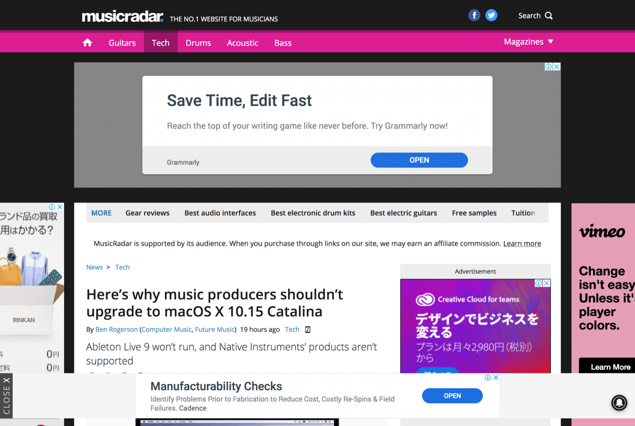 Here's why music producers shouldn't upgrade to macOS X 10.15 Catalina | MusicRadar