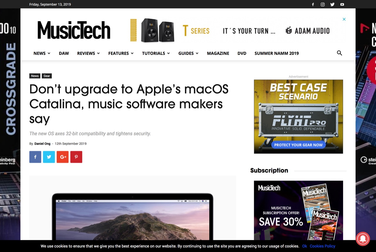 Don't upgrade to Apple's macOS Catalina, music software makers say