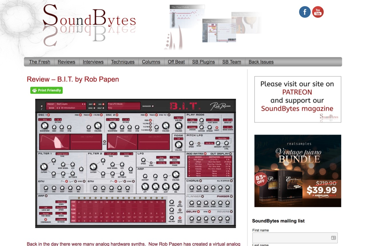 Review - B.I.T. by Rob Papen