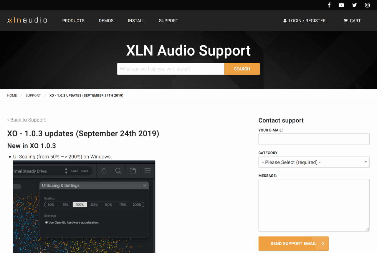XO - 1.0.3 updates (September 24th 2019) - XLN Audio