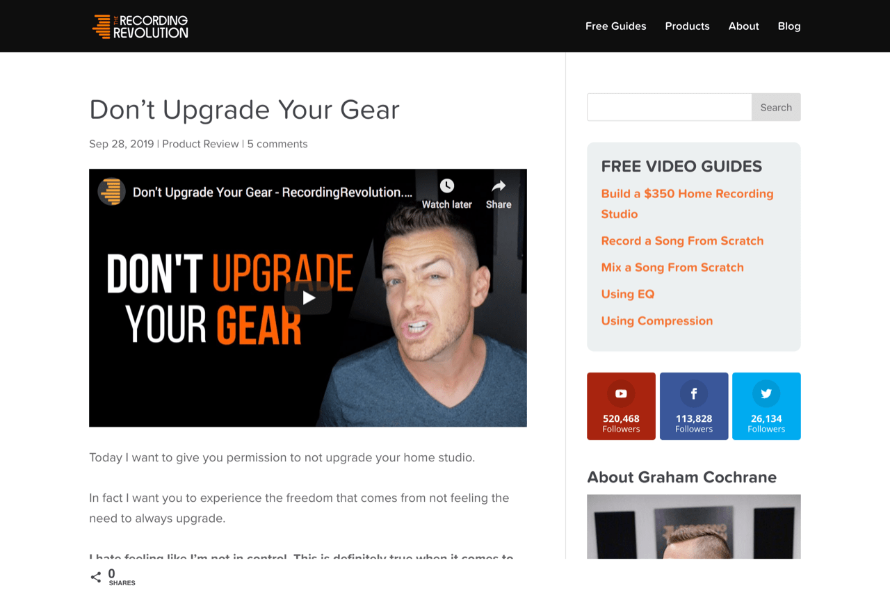 Don't Upgrade Your Gear - Recording Revolution