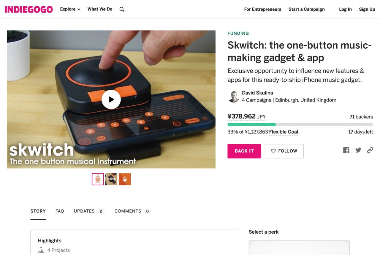 Skwitch: the one-button music-making gadget & app | Indiegogo
