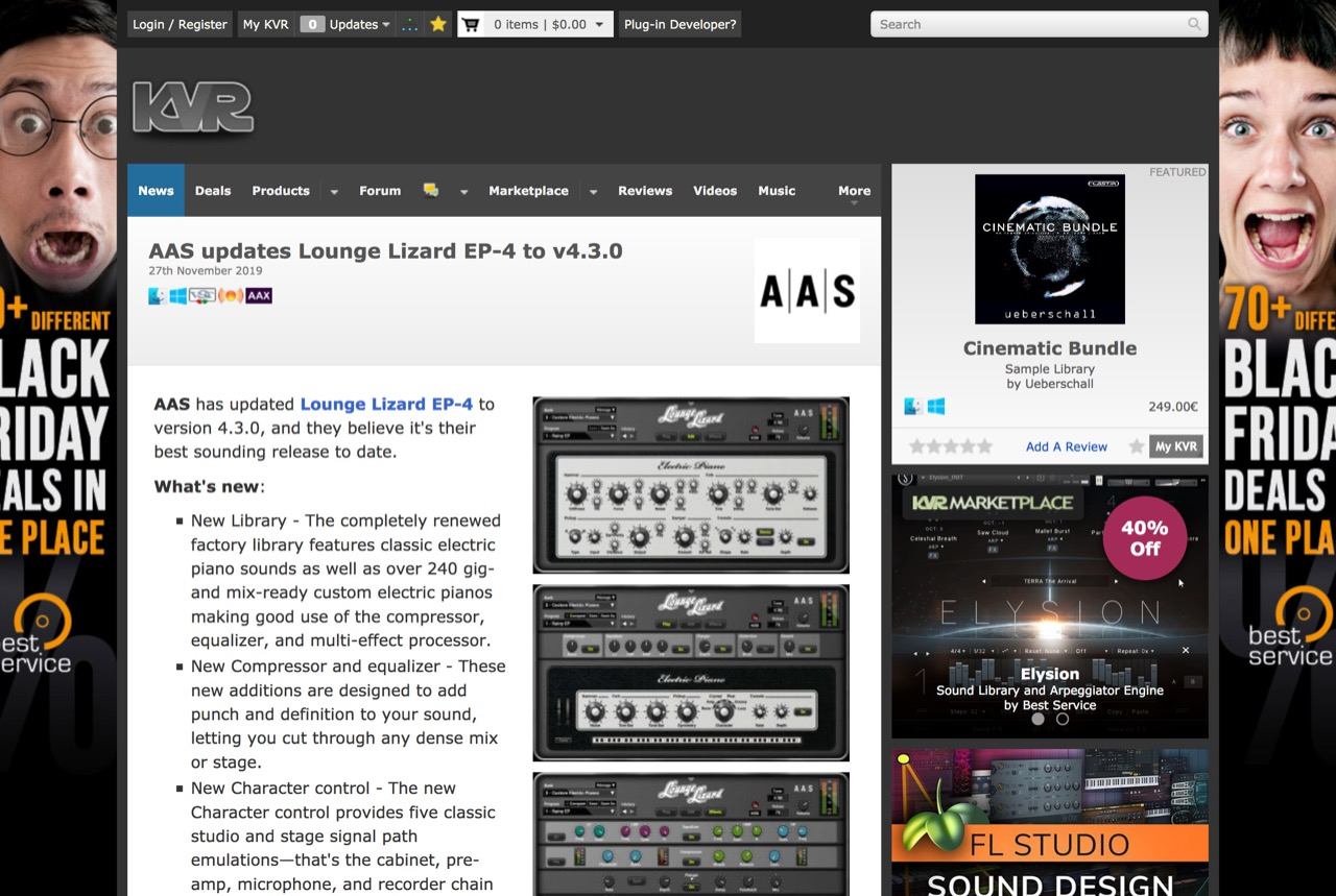 AAS updates Lounge Lizard EP-4 to v4.3.0