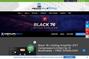 Black 76 Limiting Amplifier (FET Compressor/Limiter) by IK Multimedia - FREE DOWNLOAD! - Audio Plugin Deals