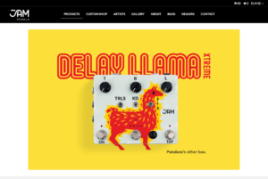 JAM pedals Delay Llama Xtreme | Analog delay w/ Tap Tempo, Trails Effects, Presets