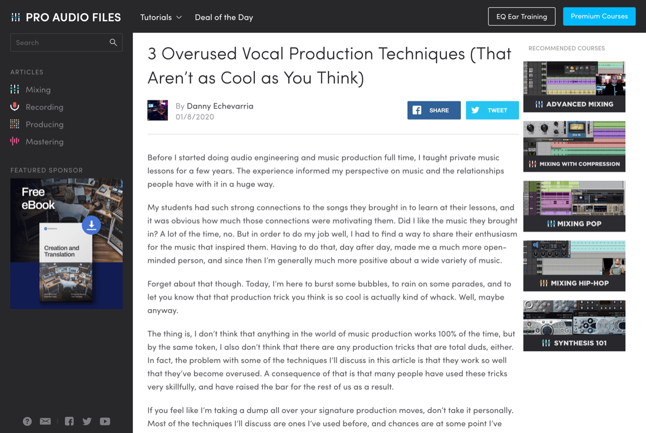3 Overused Vocal Production Techniques (That Aren't as Cool as You Think) — Pro Audio Files