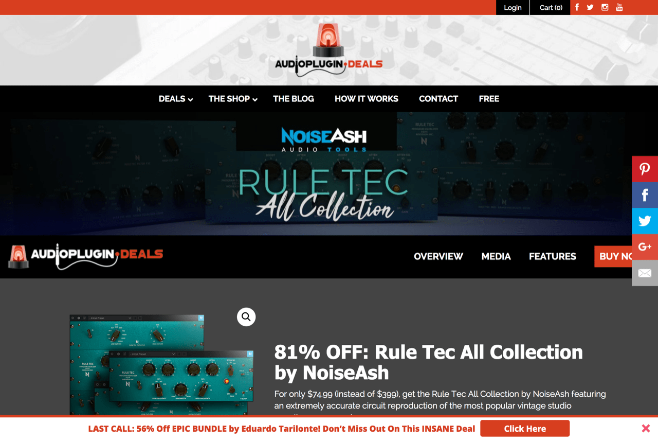 81% OFF: Rule Tec All Collection by NoiseAsh - Audio Plugin Deals