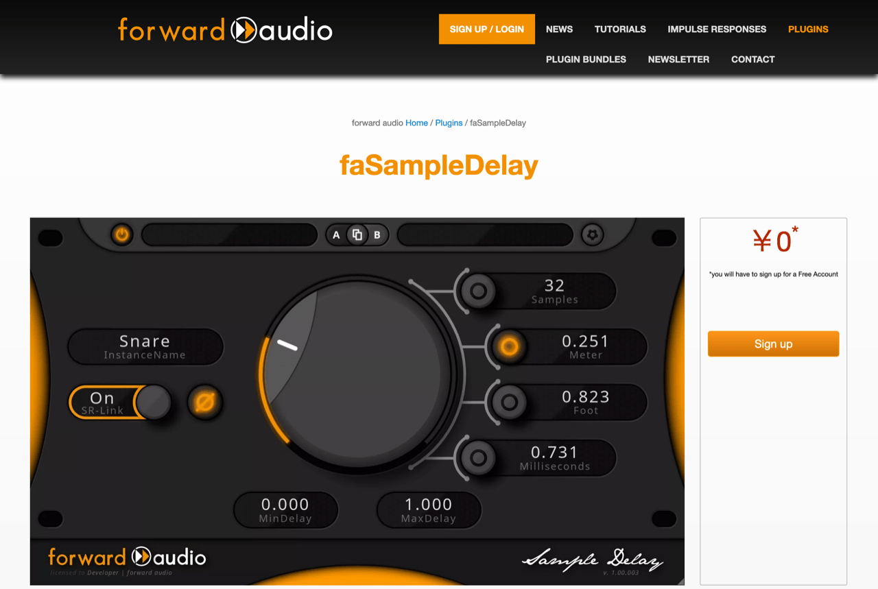 Phase Alignment Plugin for FREE! faSampleDelay - VST / AU / AAX