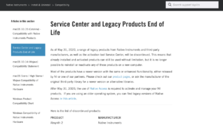 Service Center and Legacy Products End of Life – Native Instruments