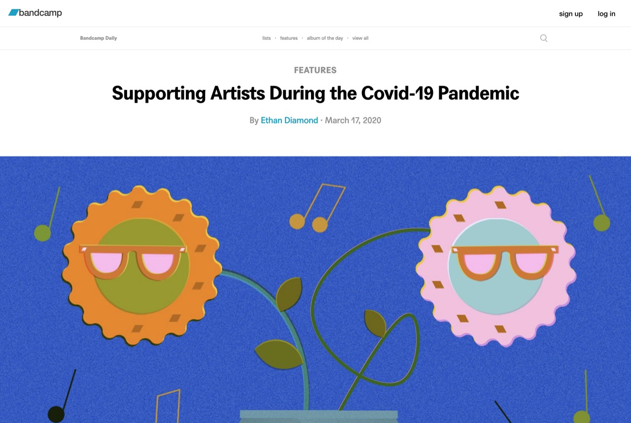 Supporting Artists During the Covid-19 Pandemic | Bandcamp Daily