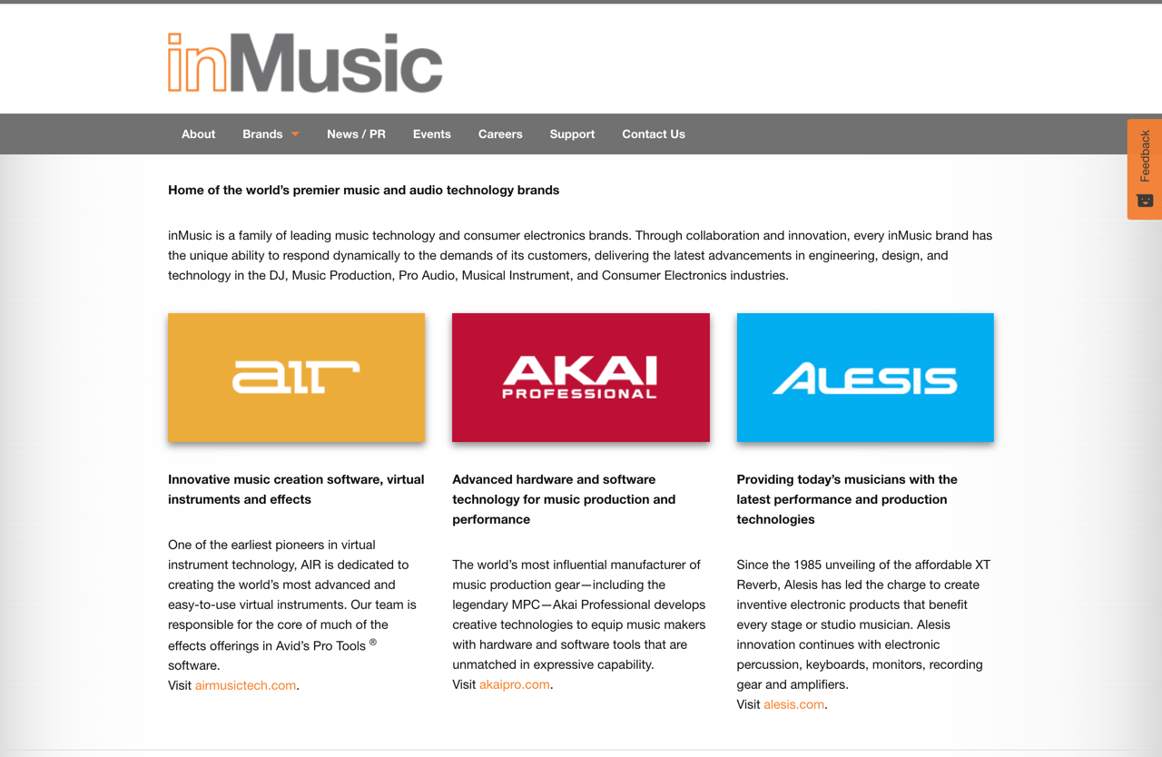inMusic - Home of the world's premier music industry brands