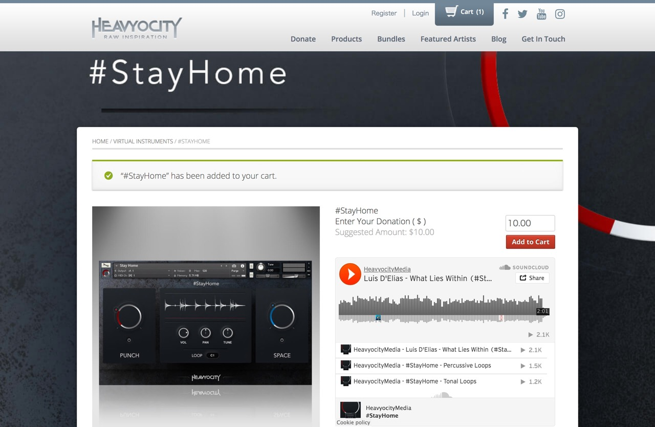 Heavyocity launches #StayHome with proceeds donated to those impacted by COVID-19