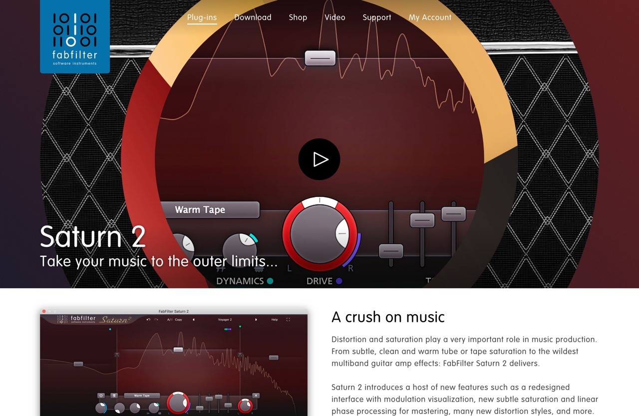 FabFilter Saturn 2 - Saturation and Distortion Plug-In
