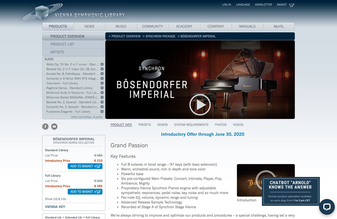 BÖSENDORFER IMPERIAL - Vienna Symphonic Library