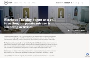 Blackout Tuesday began as a call to action; corporate misuse is silencing activists - CDM Create Digital Musicq