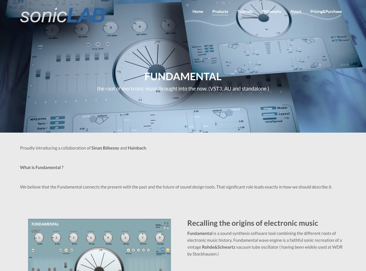 Fundamental – sonicLAB advanced sound synthesis