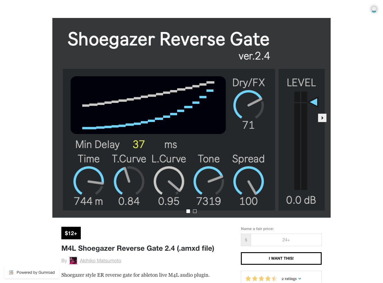 M4L Shoegazer Reverse Gate 2.4 (.amxd file)