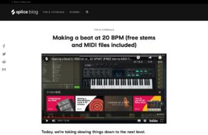 Making a beat at 20 BPM (free stems and MIDI files included) - Blog | Splice