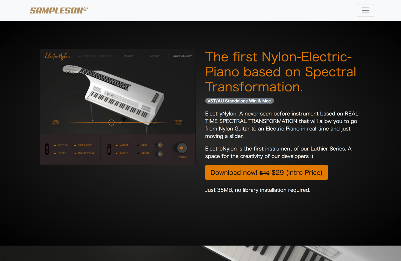 ElectroNylon. Nylon Electric Piano Virtual Instrument | Sampleson