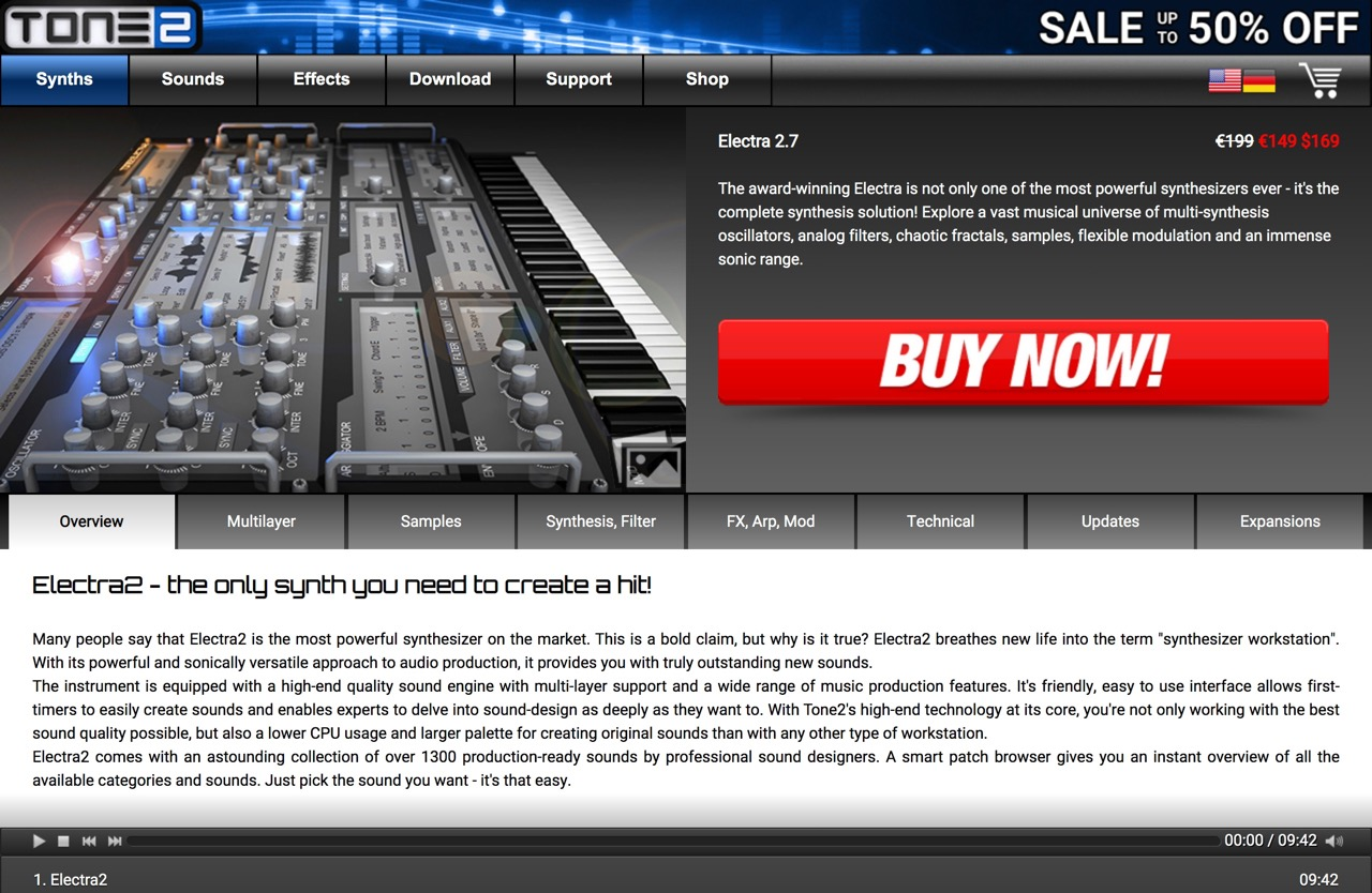 Electra VST AU plugin - The most powerful synthesizer