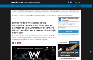 """Spitfire Audio's Westworld Scoring Competition descends into bitterness and acrimony as Hans Zimmer says of winner's critics: """"I wouldn't want to work with a single one of you"""" 