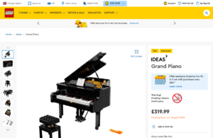 Grand Piano 21323 | Ideas | Buy online at the Official LEGO® Shop GB