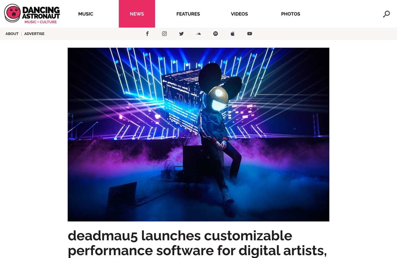 deadmau5 launches customizable performance software for digital artists, musicians : Dancing Astronaut